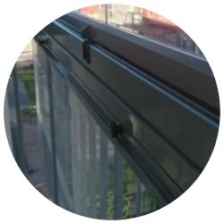 Inglasning av balkong med Montal Fold, av Montal AB.